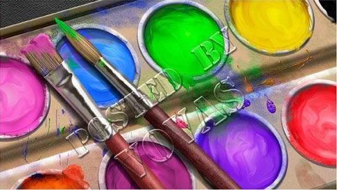 краски и кисти фото